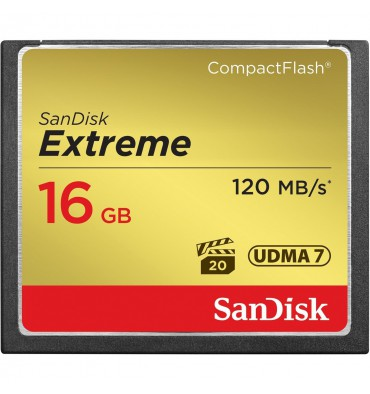 SANDISK CF 16GB EXT. 120mb/s