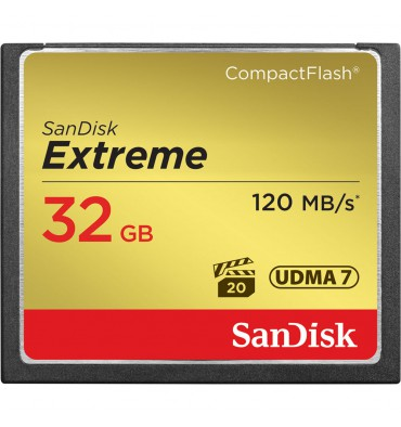 SANDISK CF 32GB EXT. 120mb/s