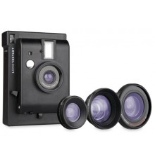 LOMO polaroid fotoaparat+leče  črn