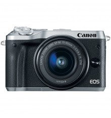 CANON EOS M6 kit 15-45 IS STM  srebrn