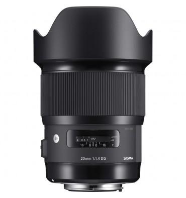 SIGMA 20mm f/1,4 art Canon