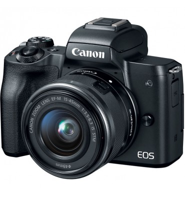 CANON EOS M50 kit 15-45 IS STM črn