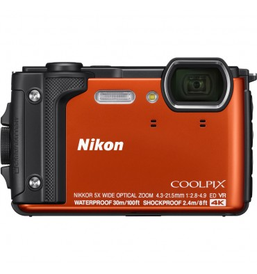 NIKON coolpix W300 oranžen Holiday kit